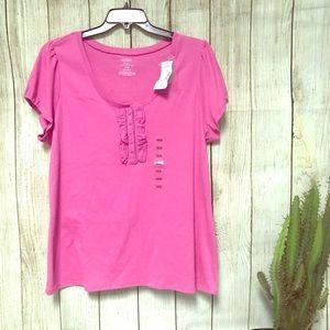 NWT Lane Bryant 18/20W Rose Pink Shirt